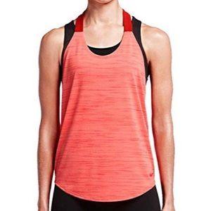 Nike | Red Elatika Heather Racerback Tank M